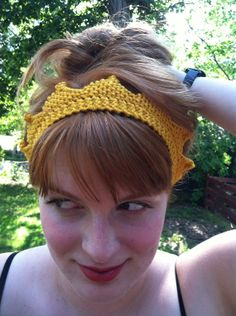 Crown Circlet  Hand Knit Golden Queen Princess by ThatGirlKnitz, $12.00