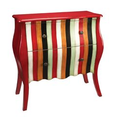 Sterling Industries Variegated Parlor Chest - Bedroom Chests and Dressers at Vista Stores