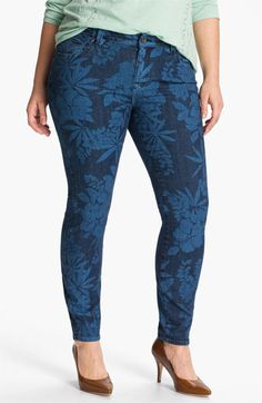Lucky Brand Print Skinny Jeans #plus #size