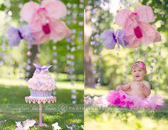 baby first birthday cake smash portrait photographer
