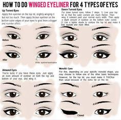 "Pretty Blog: Perfect ""Winged"" Eyeliner Tips eye shape, cat eyes, makeup, beauti, wing eyelin, winged eyeliner, eye liner, ray ban sunglasses, hair"