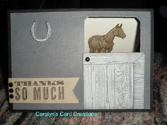 Carolyn's Card Creations: Horse in the Stable Thanks