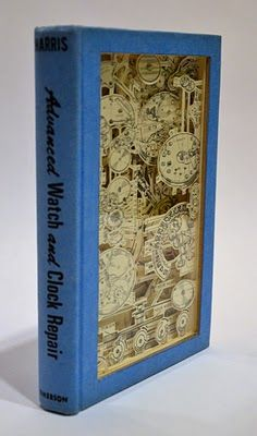 Vintage book made into amazing art #julia field #carved book #etsy #art #upcycled books