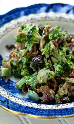 Candied broccoli salad