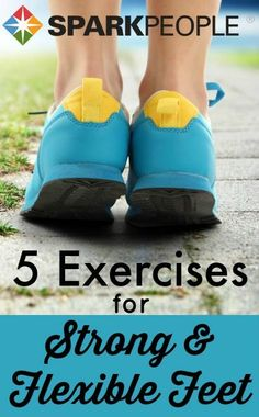 If you do these 5 exercises daily, you will enjoy improved balance, a stronger walking/running stride, increased circulation and foot mobility, and significant reductions of foot, leg and lower back pain and injuries. All it takes is five minutes a day!   via @SparkPeople #fitness #health #wellness