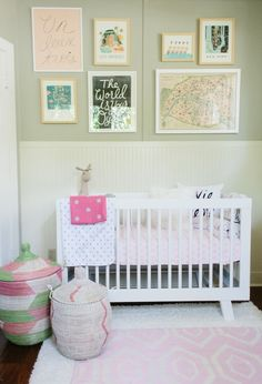 Taylor Sterling's nursery, designed by @Caitlin Burton Burton Burton Burton Burton Flemming, is perfect for this little glitter girl. #nursery #serenaandlily