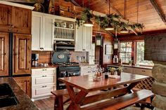 warm rustic kitchen