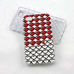 Gamer Hearts case for iPhone 4, iPhone 4s, iPhone 5 - zelda life hearts