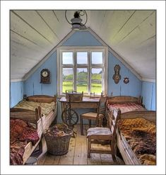 Interior Old Farm House  - Dolores Frank Photographs - wish our attic looked like this.