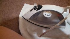 DIY Carpet Cleaner that is Actually Decent! From the  blog Directionless Mom. Ok. This is perhaps the worst website you will see today. But this suggestion really works. You need a good iron that can get a nice head of steam going. Or, craft some sort of Steam Punk thing.