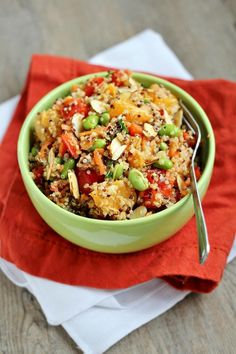 Asian-Inspired Mandarin Quinoa Salad - Very clean eating with a pinch of exotic-sweet taste! Hands down, you will love this :-)