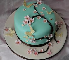 MOTHERS DAY CAKE BUTTERFLY