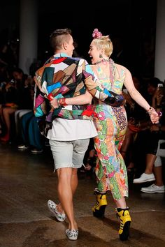 Jeremy Scott x Miley Cyrus - Miley Makes Her NYFW Debut