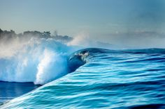 Big, breaking wave. Some serious power.