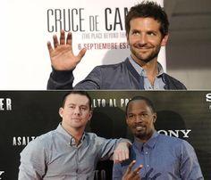 Bradley Cooper, Channing Tatum y Jamie Foxx aterrizan en la capital para promocionar sus películas