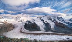 The glaciers over the Swiss alps from #treyratcliff at http://www.StuckInCustoms.com - all images Creative Commons Noncommercial