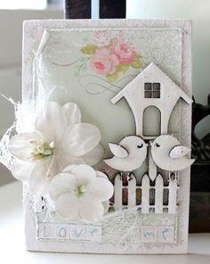cute wedding scrapbook card