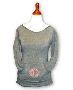 Monogrammed Sweatshirt on Etsy, $40.00