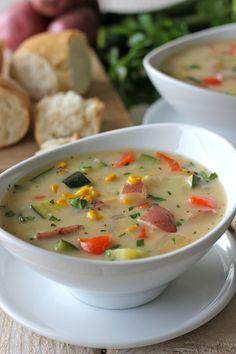 chilli night, potato corn, food, potatoes, chowders, recip, potato soup, zucchini chowder, corn zucchini