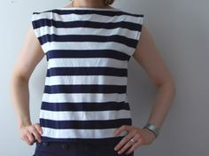 Tutorial: Striped Boat Neck Shirt