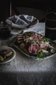 coriander, fennel, mint rack of lamb