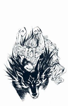 Wolf Link  Midna