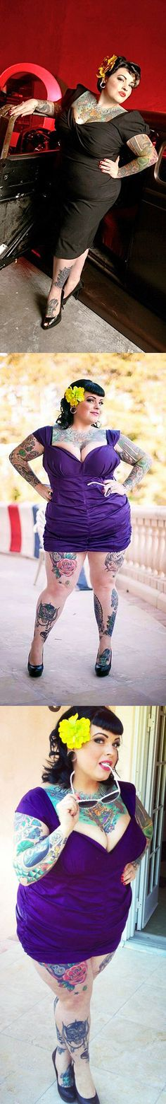 Danika Destruction multiple #tattoos on sexy #bbw