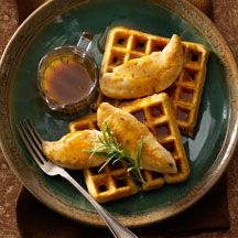 chicken and cornmeal waffles