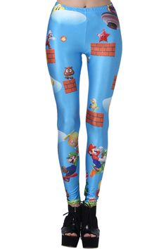 Super Mario #Leggings more #geeky #gamer styles available @ www.romwe.com