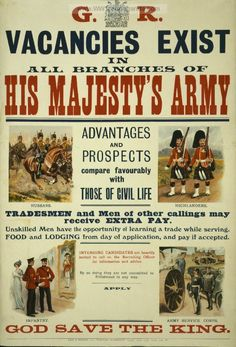 British Army Recruiting Poster.
