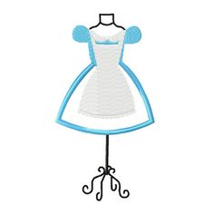 Alice Dress Form embroidery applique fill design by stitchtastical, $3.50