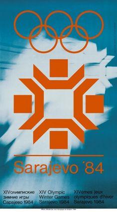 Olympics Sarajevo 1984 Games Poster