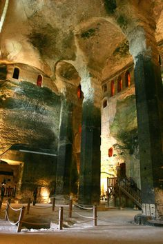 The Underground Church of Saint-Jean at Aubeterre-sur-Dronne, France