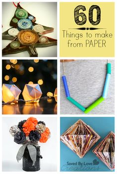 Things To Make From Paper #diy #homedecor #upcycledjewelry @savedbyloves #papercrafts