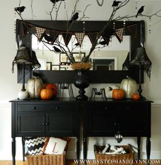 Halloween decorated buffet