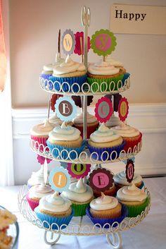 alphabet cupcakes, birthday parties, bee, birthdays, 2nd birthday