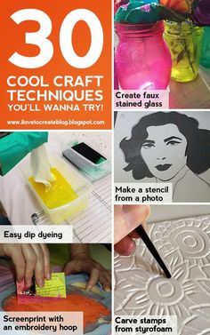 iLoveToCreate Blog: 30 Cool Craft Techniques You'll Wanna Try