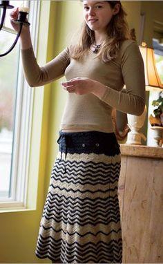 Zig Zag Skirt, de Mari Lynn Patrick. http://www.ravelry.com/patterns/library/zig-zag-skirt