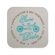 Square Save the Date Coasters   Custom Save the Date Coasters   ForYourParty.com