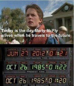 Do you remember when Back to the Future came out? Well, can you believe that today is the date that Marty went back to the future? PS. Spot the spelling error.