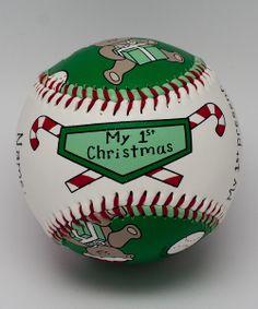 White 'My 1st Christmas' Baseball