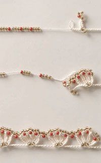 beaded crochet edging