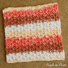 Petals to Picots Crochet: Free Stitch Pattern from The New Tunisian Crochet by Dora Ohrenstein