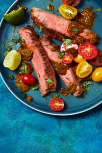 Flank Steak with Chipotle Lime Sauce - use gluten free soy sauce or another substitution!