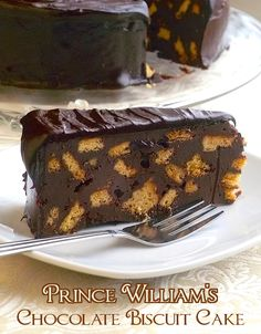 Prince William's Chocolate Biscuit Cake - This recipe for chocolate biscuit cake was inspired by the marriage of William & Kate, where this favorite of the royal family was served at the Prince's request, as the grooms cake.