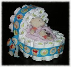 rolled diaper bassinet