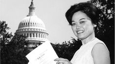 In 1965, Patsy Mink became the first Asian American woman and woman of color in the United States Congress.