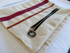Canvas fold-over clutch
