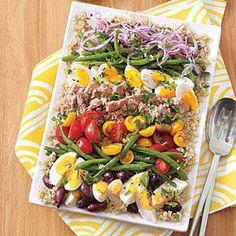 Quinoa Salad Niçoise with Lemon-Caper Vinaigrette| MyRecipes.com