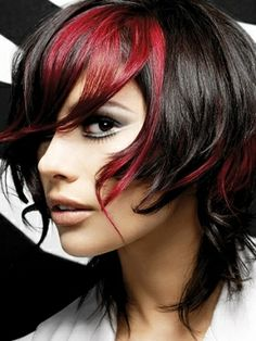 burgandy and dark brown hair ( by paul mitchell )